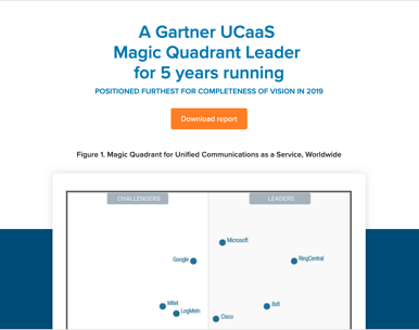 Gartner UCaas Magic Quadrant report